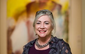 Portrait of presenter Angela Strain